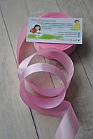 Лента атласная 2,5см розовая