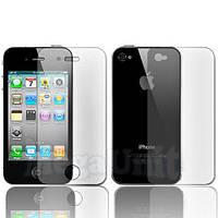 2в1 Защитная пленка (перед+зад) для Apple iPhone 4 / 4S