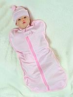 Детская пеленка-кокон для новорожденных,  Горошек
