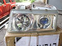 Передние фары на ВАЗ 2110-2112 (хром)  MERCEDES STYLE