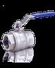Кран шаровый двухсоставной из нержавеющей стали AISI 304 ВР Ду-20