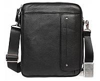 Невероятно практичная мужская кожаная сумка-планшетка черная ALVI av-30-3687