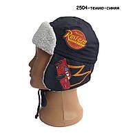 Теплая шапка Тачки Cars Disney для мальчика. 50, 52 см