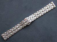 Браслет для часов из нержавеющей стали, литой, полированный. 20-й размер, фото 1