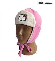 Демисезонная шапка Hello Kitty для девочки. 48 см