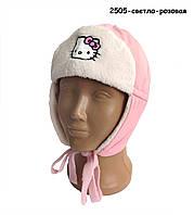 Демисезонная шапка Hello Kitty для девочки. 48, 50 см