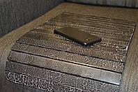 Деревянная накладка-столик на подлокотник дивана (античный черный) #2i2ua