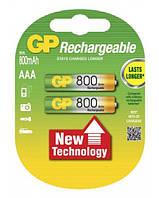 Аккумулятор GP Ni-Mh AAA (80ААAHC-U2 R03), 800mAh