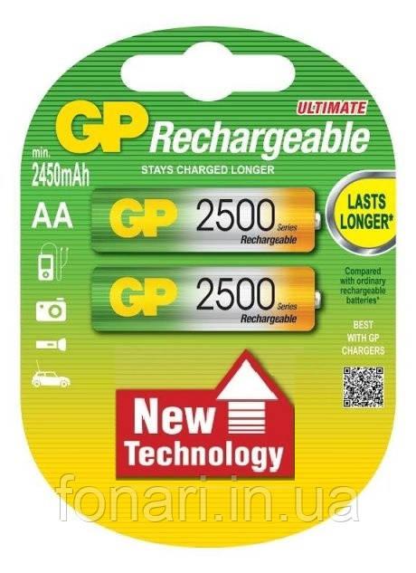 Аккумулятор GP Ni-Mh AA (250ААHC-U2 R6), 2500mAh