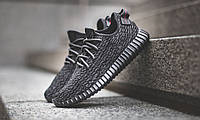 Мужские кроссовки Adidas Yeezy Boost 350 by kanye west black-grey  , фото 1