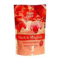 Крем-мыло Fresh Juice с персиковым маслом Peach & Magnolia  460 мл (дой-пак)