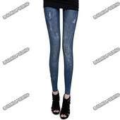 Леггинсы с принтом джинс