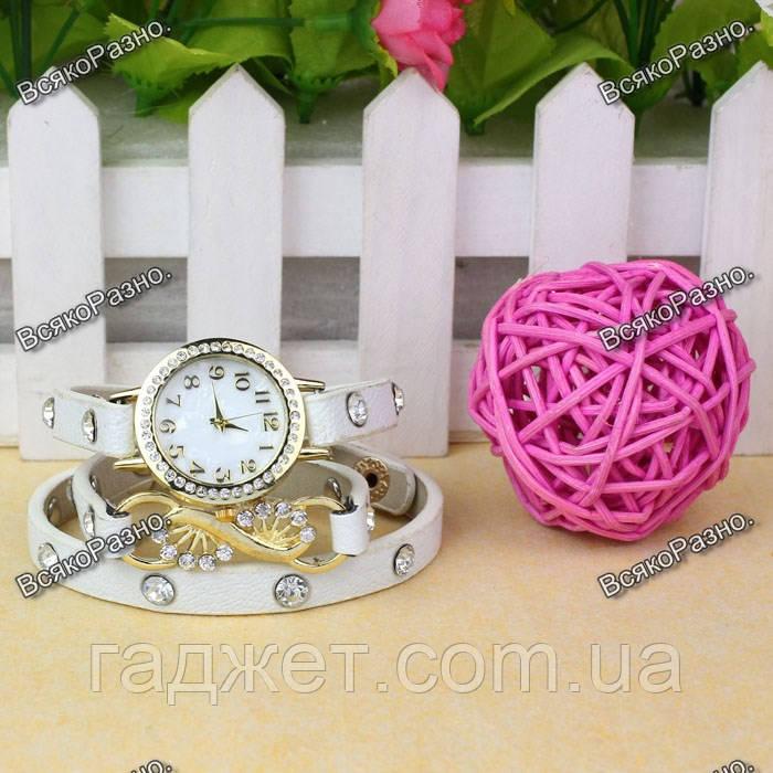 Оригинальные Женские часы браслет Infinity белого цвета