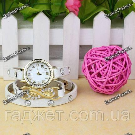 Оригинальные Женские часы браслет Infinity белого цвета, фото 2