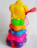 """Пирамидка для малышей """"Желтенький цветочек"""" (21 см), в сетке"""
