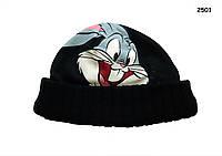Теплая шапка Looney Tunes, Bugs Bunny для мальчика на флисе. 55 см