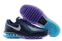 Кроссовки мужские Nike Air max 2014 leather Blue-Fiolet