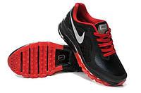 Кроссовки мужские Nike Air max 2014 leather Black-Red, фото 1