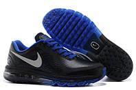 Кроссовки мужские Nike Air max 2014 leather Black-Blue