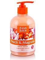 Крем-мыло Fresh Juice с персиковым маслом Peach & Magnolia  460 мл