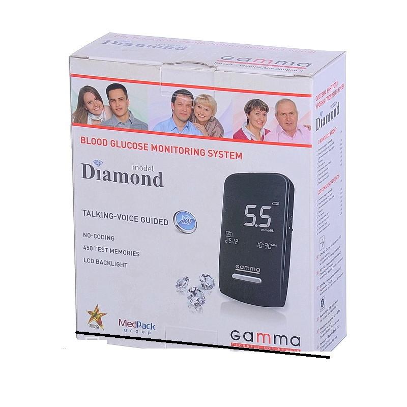 Глюкометр Gamma Diamond (Гамма Диамант) без тест полосок в комплекте