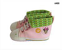Пинетки-кеды Minnie Mouse для девочки. 12 см, фото 1