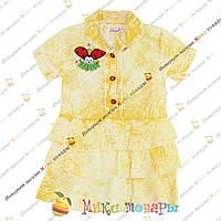 Цветные летние платья для девочек от 1 до 4 лет (3400-2)