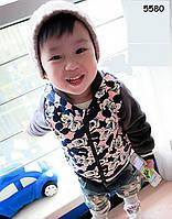 Тепла велюрова кофта Mickey Mouse для хлопчика. 80, 90, 100, 110, 120 см