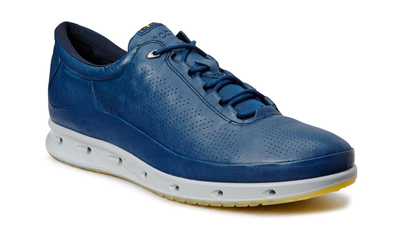 Мужские кроссовки Еcco 02 leather blue, фото 1