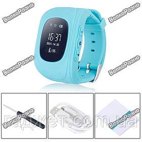 Умные часы, детские Smart часы, Smart Baby Q50 c GPS треккером голубого цвета.