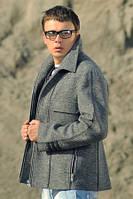 Пальто мужское укороченное №М-950 серый
