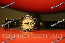 Модные женские часы с изображением Эйфилевой башни и черным ремешком, фото 3