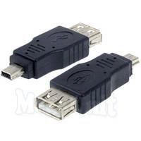 Переходник miniUSB-USB AF (OTG host mini)