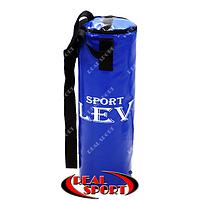 Боксерский мешок Lev 65 см х 23 см, винил, синий