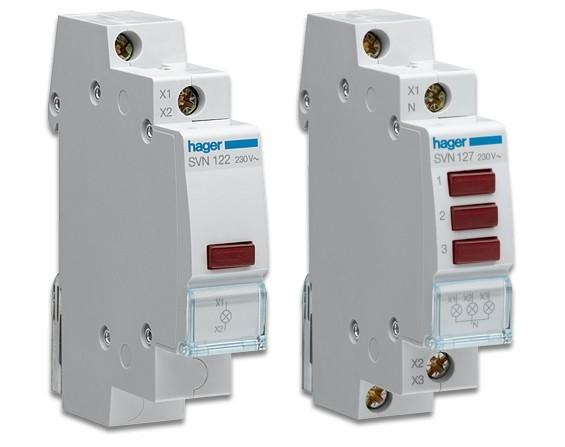 Индикатор LED 230В, синий, 1м hager