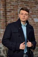 Пальто мужское №М-550 синий