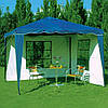 Павильон шатер садовый 3х3 с 2 стенками (тент - полиэстер+ПВХ)