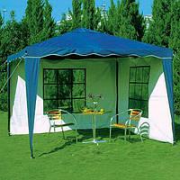 Павильон шатер садовый 3х3 с 2 стенками (тент - полиэстер+ПВХ), фото 1