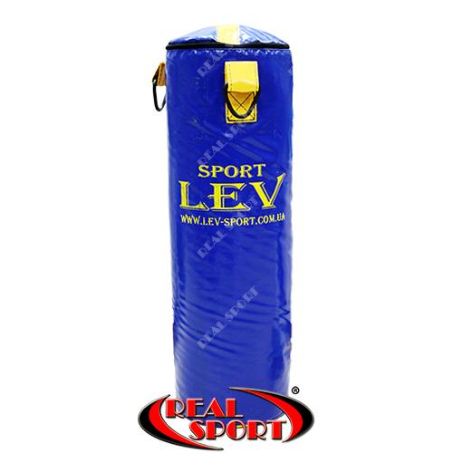 Боксерский мешок Lev 85 см х 26 см, тент, синий