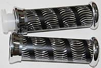 Ручки мотоциклетные чешуя чёрные (тюнинг)