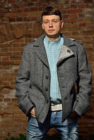 Пальто мужское №М-350 джинс