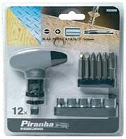 Набор бит с Т-образной отверткой Piranha X62590