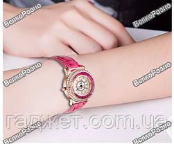 Модные роскошные женские часы Gogoey с горным хрусталем розового цвета., фото 3