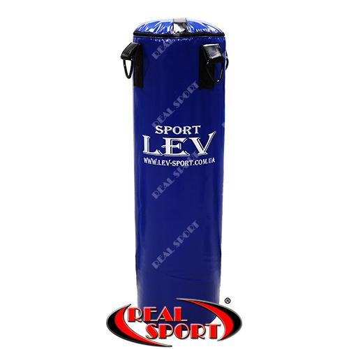 Боксерский мешок Лев 100 см х 30 см, винил, синий