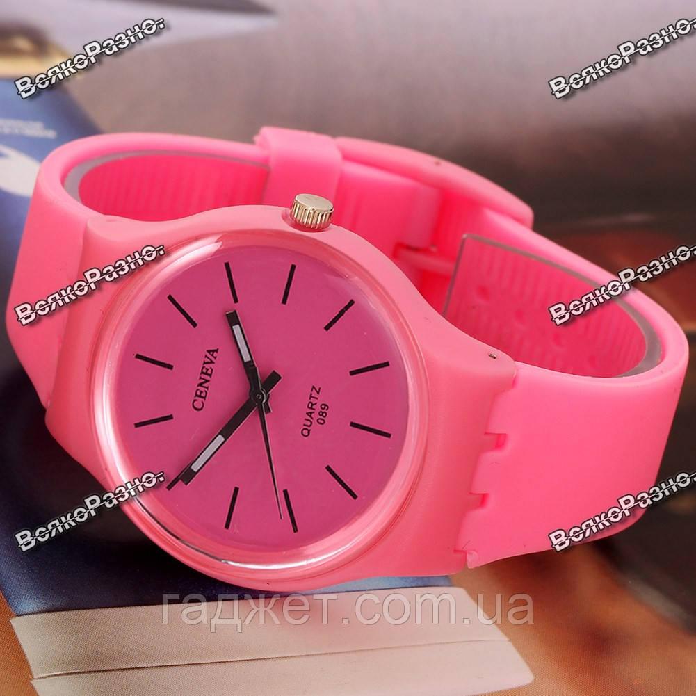 Часы GENEVA розовые