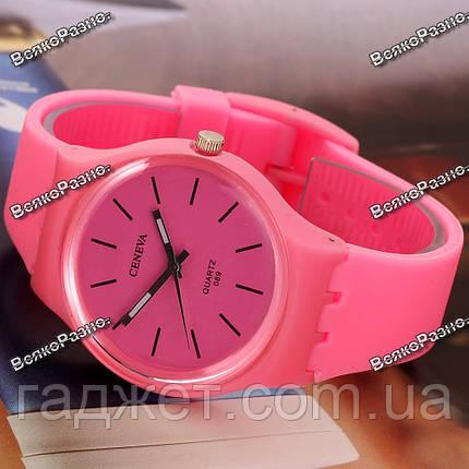Часы GENEVA розовые, фото 2