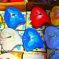Шкатулки пластиковые с зеркальцем