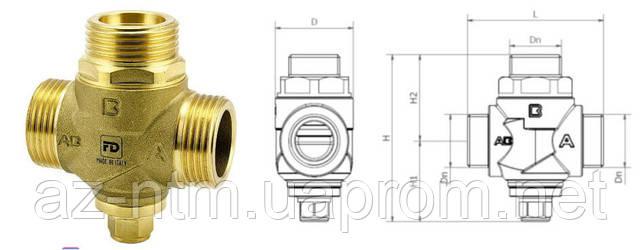 """Трехходовой антиконденсатный клапан 1"""" 55 °С Kv 3.2"""