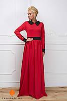 Длинное платье с воротничком-1