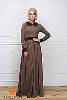 Длинное платье с воротничком-2
